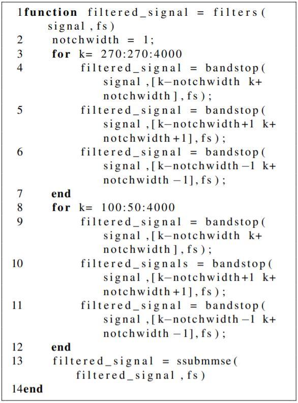 Implementation of Algorithm in MATLAB