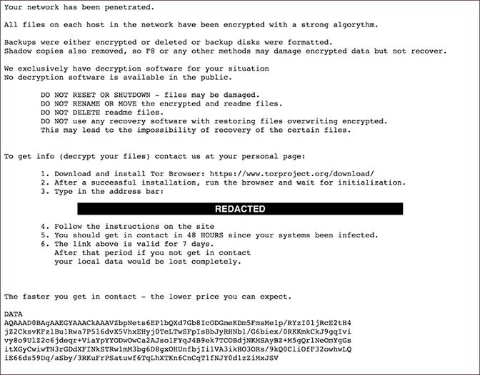 DopplePaymer Ransom Note