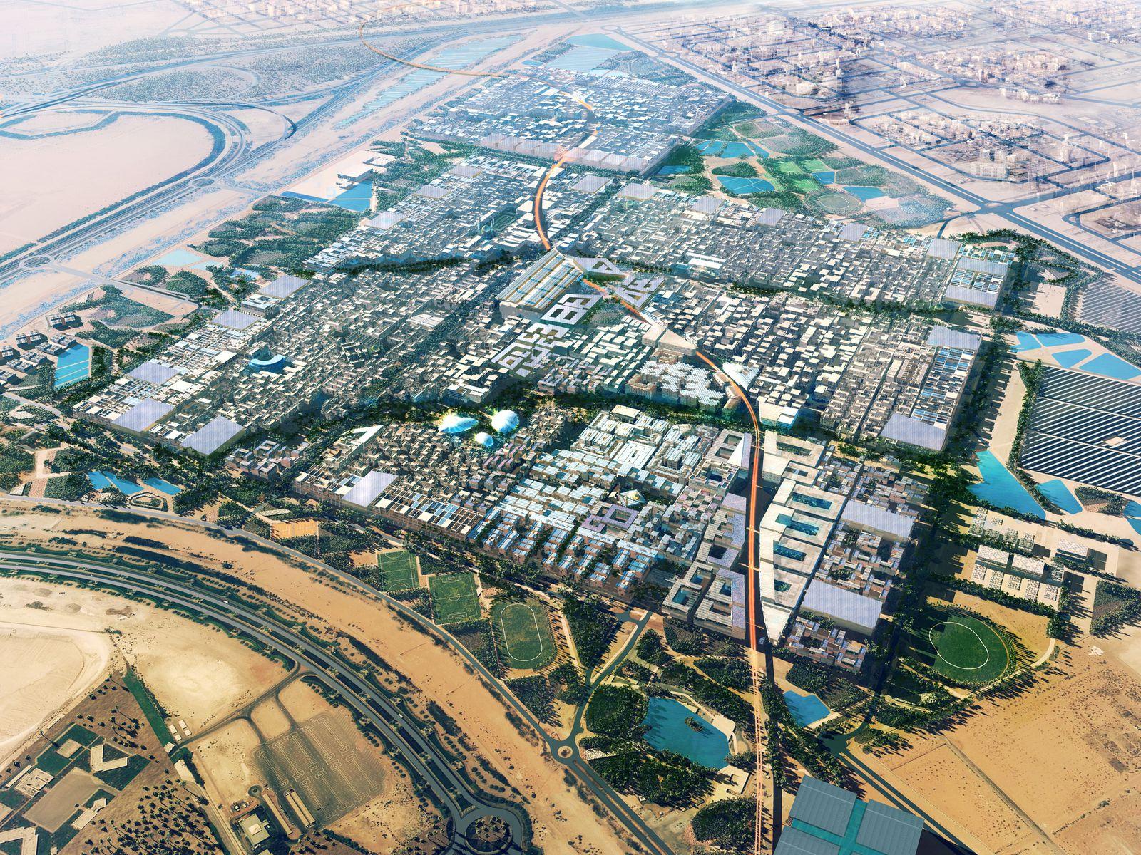 Overlay of the Masdar City